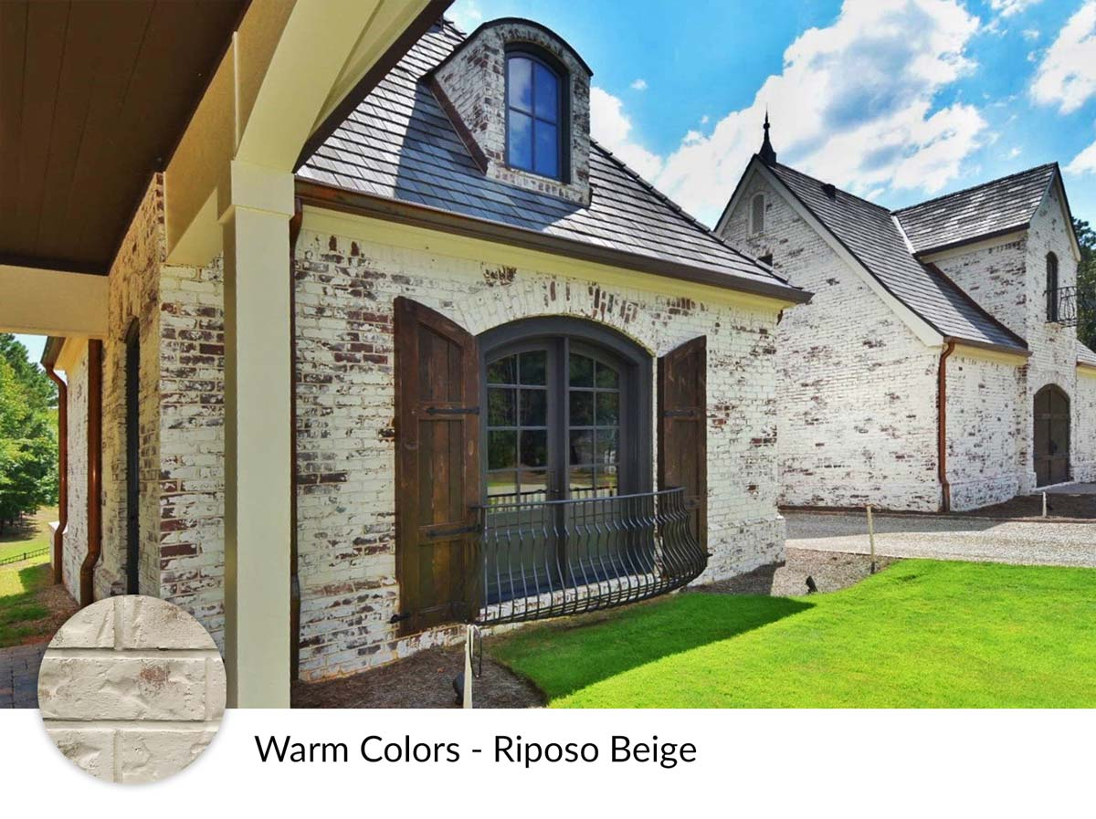 Warm Color Riposo Beige Limewash Painting on House